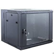 Wall Mounted Cabinet With Glass Doors by Double Section Wall Mount Cabinet 4u 6u 8u 12u 16u 18u Glass Door