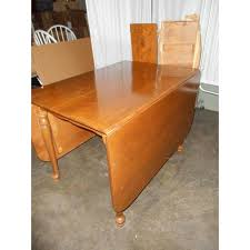Ethan Allen DropLeaf GateLeg Style Dining Table  Leaves Pads - Ethan allen drop leaf dining room table