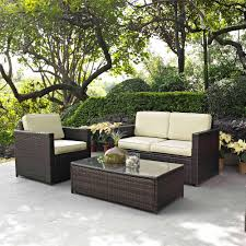 Patio Furniture From Walmart by Crosley Furniture Palm Harbor 3 Piece Outdoor Wicker Seating Set