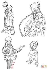 winx girls coloring page free printable coloring pages