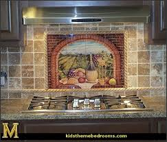 wall mural stickers tuscan themed kitchen accessories grape decor