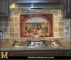 ceramic tile murals for kitchen backsplash wall mural stickers tuscan themed kitchen accessories grape decor