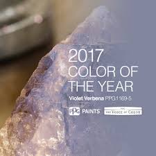 2017 paint color of the year violet verbena is inspired by a gray