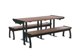 Commercial Picnic Tables And Benches Commercial Outdoor Tables U0026 Benches Plastic Lumber Yard