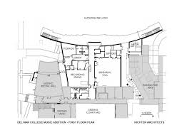 Schematic Floor Plan by Gallery Of Del Mar College Music Addition Richter Architects 10
