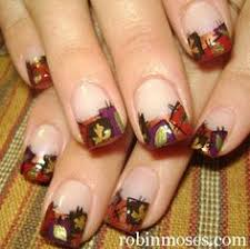 fall leaves nail art fall autumn and halloween pinterest