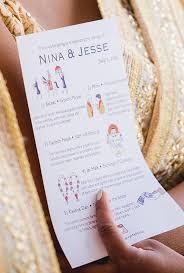 hindu wedding program indian hindu wedding ceremony program custom card wedding