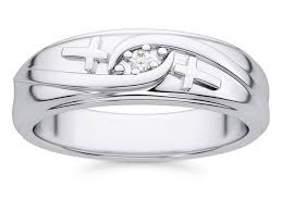 christian wedding bands christian diamond cross wedding band ring for men