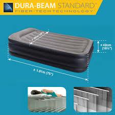 materasso intex singolo intex 64132 materasso singolo dura beam pillow rest deluxe