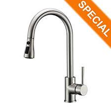 amazon kitchen faucet amazon com refin pause function kitchen sink faucet 2 mode pre