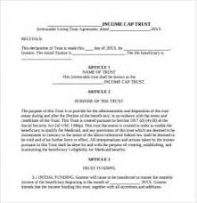 irrevocable living trust agreement form benefits rfp evaluation