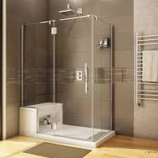 Fleurco Shower Door Fleurco Shower Door Platinum 2 Sided W Alessa Seat Bliss Bath