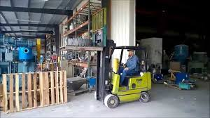 used clark 4000 lb forklift fork truck lpg propane model gcs20wc