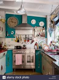 Eclectic Kitchen Designs Eclectic Kitchen With 1950 U0027s English Rose Units And St Giles Blue