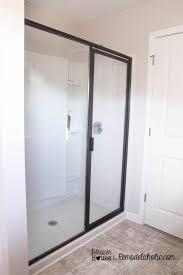 shower door spacer diy glass shower door landscape lighting ideas