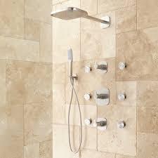 arin thermostatic shower system with hand shower u0026 6 body sprays