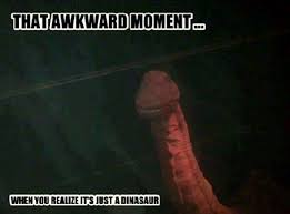 Funny Penis Memes - dinosaur illusion