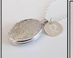custom locket necklace engraved photo necklace etsy