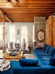 velvet sectional sofa blue velvet sectional vancouver loft architect omer arbel