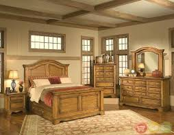 Rustic Bed Furniture Magnificent Rustic Bedroom Furniture With Brick And