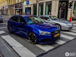 audi rs3 blue audi rs3 sportback 8v 1 november 2015 autogespot