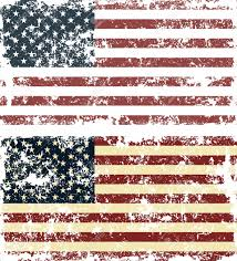 Dirty American Flag Old Scratched Flag Vector Illustration Of Vintage Usa Flag