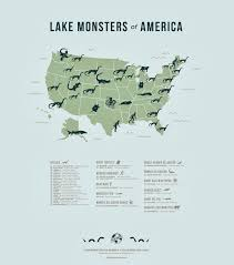 Eagle River Alaska Map by Frontiers Of Zoology Lake Monsters Map From Atlas Obscura