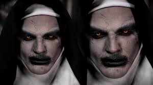 scary halloween makeup for men valak demon nun halloween makeup tutorial the conjuring 2 youtube