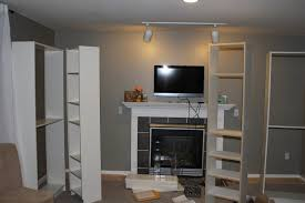 faux built in billy bookcase ikea hack hearthavenhome and set a