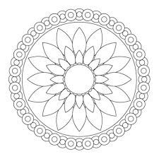 simple mandala flower coloring pages printable in humorous page