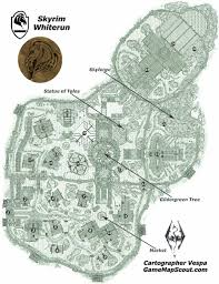 Map Of Skyrim Skyrim Map Of Whiterun Guide To Whiterun