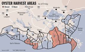 louisiana map areas louisiana to reopen additional oyster harvest areas saturday