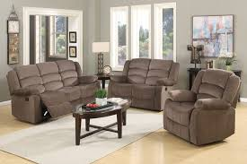 Cloth Reclining Sofa Jagger Brown Fabric Recliner Sofa