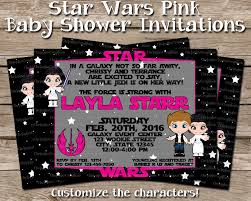 wars baby shower ideas wars baby shower invitation pink
