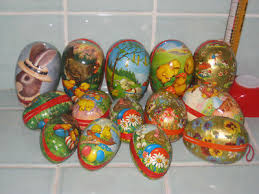 vintage paper mache easter eggs lot 14 vintage germany paper mache easter egg candy containers