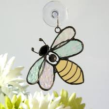 j devlin orn 175 stained glass bumble bee ornament