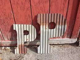 corrugated rustic metal letters u2013 rustic metal letters u0026 wall art