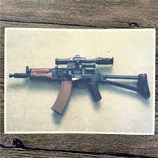 direct selling home decor direct selling rmg 154 kraft paper ak47 machine gun pictures for