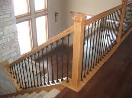 Solid Banister Custom Wood Railings Mn Minneapolis Finish Carpentry Railings