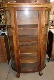 antique curio cabinet with curved glass antique oak curio cabinet antique furniture
