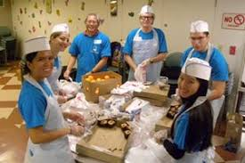 san francisco pg e employees serve thanksgiving lunch at