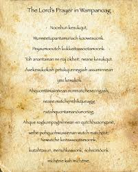 the lord s prayer translated into the wanoag language the
