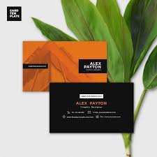 duotone business card design template free design resources