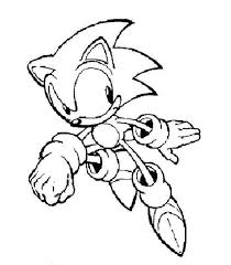 Sonic Coloring Pages Free Sonic Coloring Pages