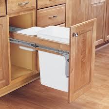 kitchen trash bin cabinet kitchen garbage pail small metal trash can tilt out trash bin