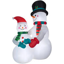 Outdoor Lighted Snowman Shop Christmas Inflatables At Lowes Com