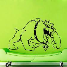 online get cheap dog wall murals aliexpress com alibaba group qt015 boxer dog bulldog wall stickers home decor vinyl decal sticker wall murals pet shop decor