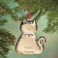 personalized birthstone ornaments personalized birthstone cat ornament christmas ornament