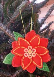 amazing home decorating sparkling poinsettia ornament