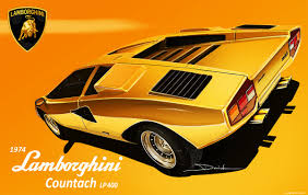 yellow lamborghini countach 1974 lamborghini countach lp400 on behance posters pinterest